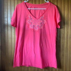 Columbia Pink T-Shirt | Women's XL